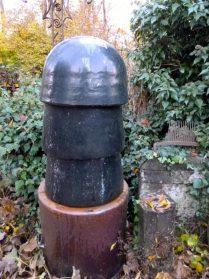 Keramische antieke schoorsteenpot