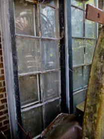 oude houten serre-ramen