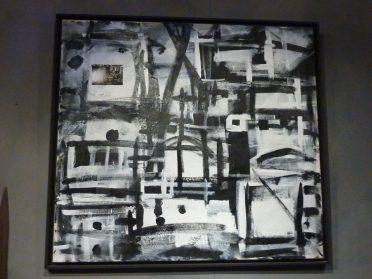 Jan de Bie schilderij zwart/wit