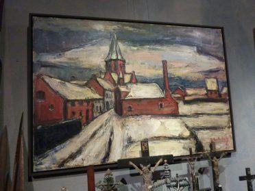 schilderij winterdorp