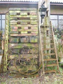 tuinbalken / ijzeren trap
