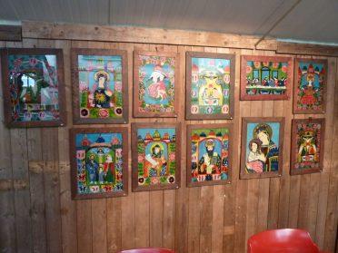Hinterglas schilderijen 35 x 45 cm. Roemenie