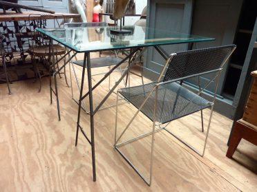 Glazen design tafel-inklapbaar