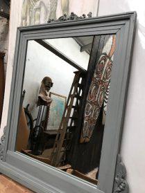 grote houten spiegel 113cm.hoog