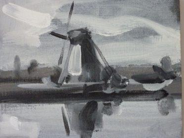 Har van der Put molenschilderij