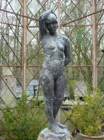 Bronzen tuinbeeld uit Brussel 1960 hoog 1.65.