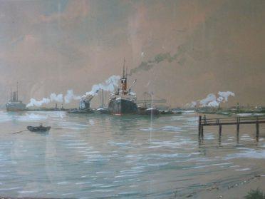 schilderij boten