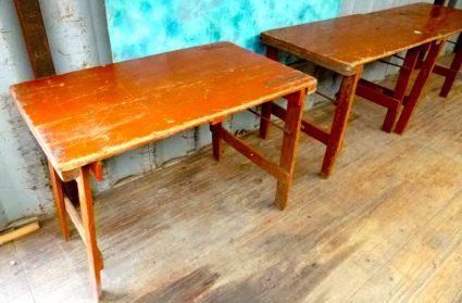 Belgische café-tafel inklapbaar hout 60 x 100 cm.