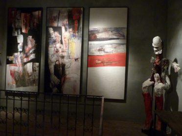 Sabine Vess beeld + schilderij 3-luik