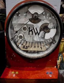 Kilowatt-meter uit oude Belgische school