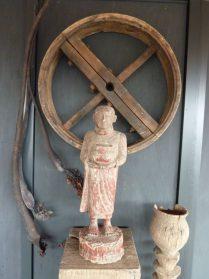 Birmese bedelmonnik-60 cm. hout