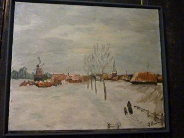 schilderij winterlanschap
