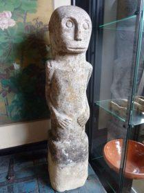 stenen beeld uit Florus-80 cm. hoog