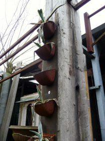 ijzeren plantenbakjes uit meelfabriek