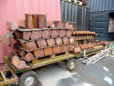 ijzeren tuinbakjes uit meelfabriek