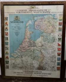 LANDKAART NEDERLAND BEGIN 1900